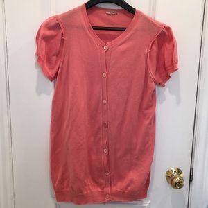 Miu miu Pink Button Cardigan Size 40